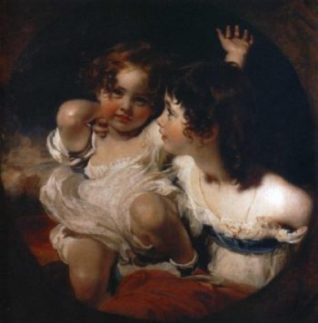 The Calmady Children Emily Calmady 1818 1906 and Laura Anne Calmady 1820 94 | Sir Thomas Lawrence | oil painting