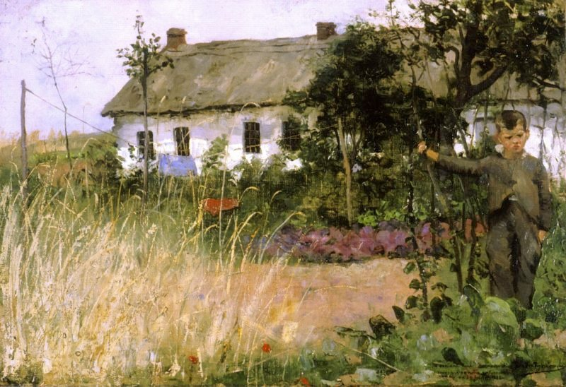Among the Cabbages | Theo van Rysselberghe | oil painting