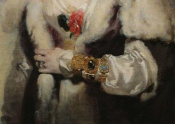 Mrs Robert later Lady Peel Detail 1   Sir Thomas Lawrence   oil painting