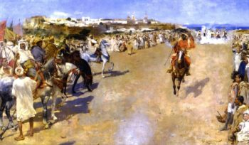 Fantasia Gunpowder Games Morocco | Theo van Rysselberghe | oil painting