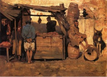 Moroccan Butcher Shop | Theo van Rysselberghe | oil painting