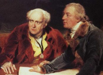 Sir Francis Baring 1st Bart 1740 1810 John Baring 1730 1816 and Charles Wall Detail | Sir Thomas Lawrence | oil painting