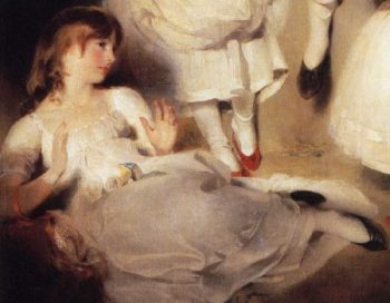 The Children of Ayscoghe Boucherett Detail 2 | Sir Thomas Lawrence | oil painting