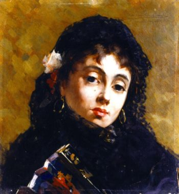 Spanish Woman   Theo van Rysselberghe   oil painting
