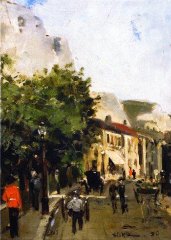 Street in England   Theo van Rysselberghe   oil painting