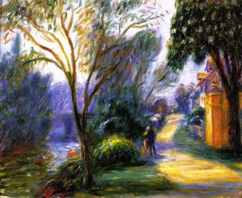Along the Marne | William James Glackens | oil painting
