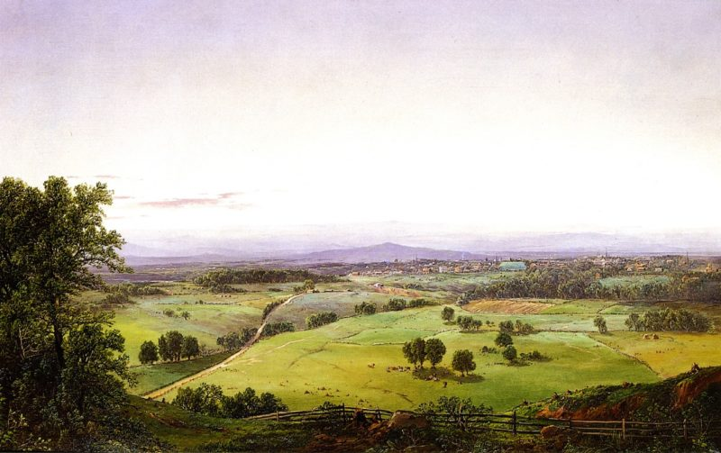 View of a Valley Town | William Louis Sonntag | oil painting