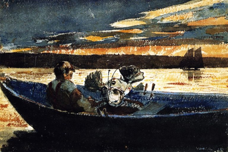 The Sculpin | Winslow Homer | oil painting