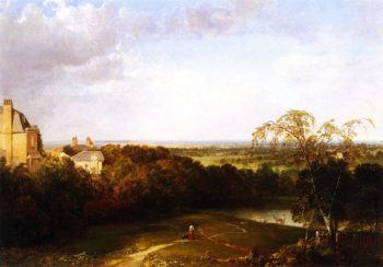 View Toward London from Hampstead Heath | Thomas Doughty | oil painting