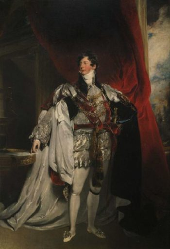 The Prince Regent in Garter Robes | Sir Thomas Lawrence | oil painting