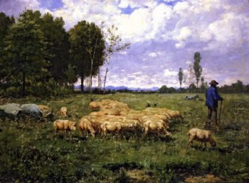 The Shepherd   Alexander Ignatius Roche   oil painting