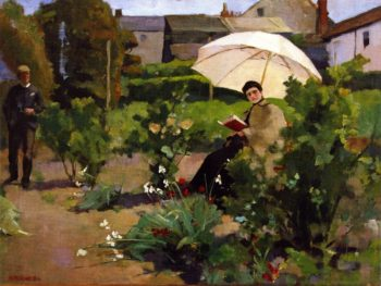 An Interruption   Alexander Ignatius Roche   oil painting