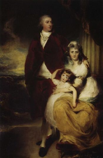 Henry Cecil 10th Earl of Exeter Later 1st Marquess with His Wife Sarah Countess of Exeter and Daughter Lady Sophia | Sir Thomas Lawrence | oil painting