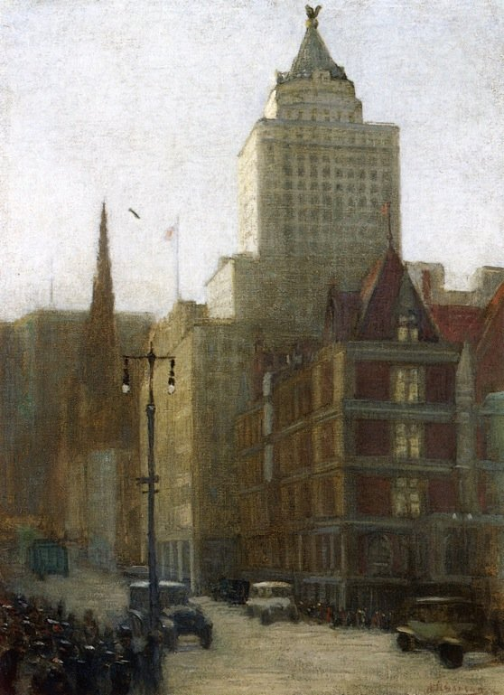 57th Street at Fifth Avenue | Aaron Harry Gorson | oil painting