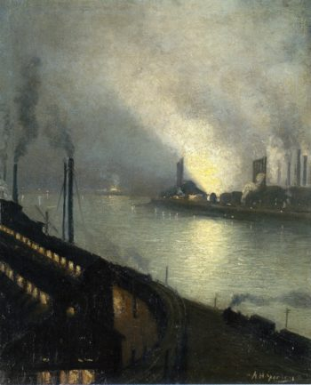 Factories at Night | Aaron Harry Gorson | oil painting