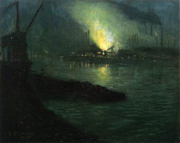 J & L Mills along the Minongahela River | Aaron Harry Gorson | oil painting