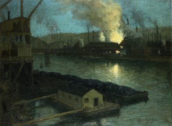 Pittsburgh Mills at Night | Aaron Harry Gorson | oil painting