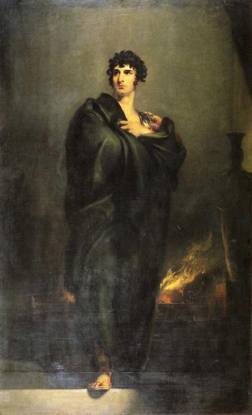 John Philip Kemble as Coriolanus at the Hearth of Tullus Aufidius | Sir Thomas Lawrence | oil painting