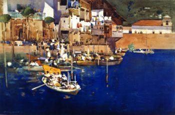 A Mediterranean Port | Arthur Melville | oil painting