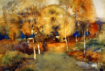 Autumn Loch Lomond | Arthur Melville | oil painting