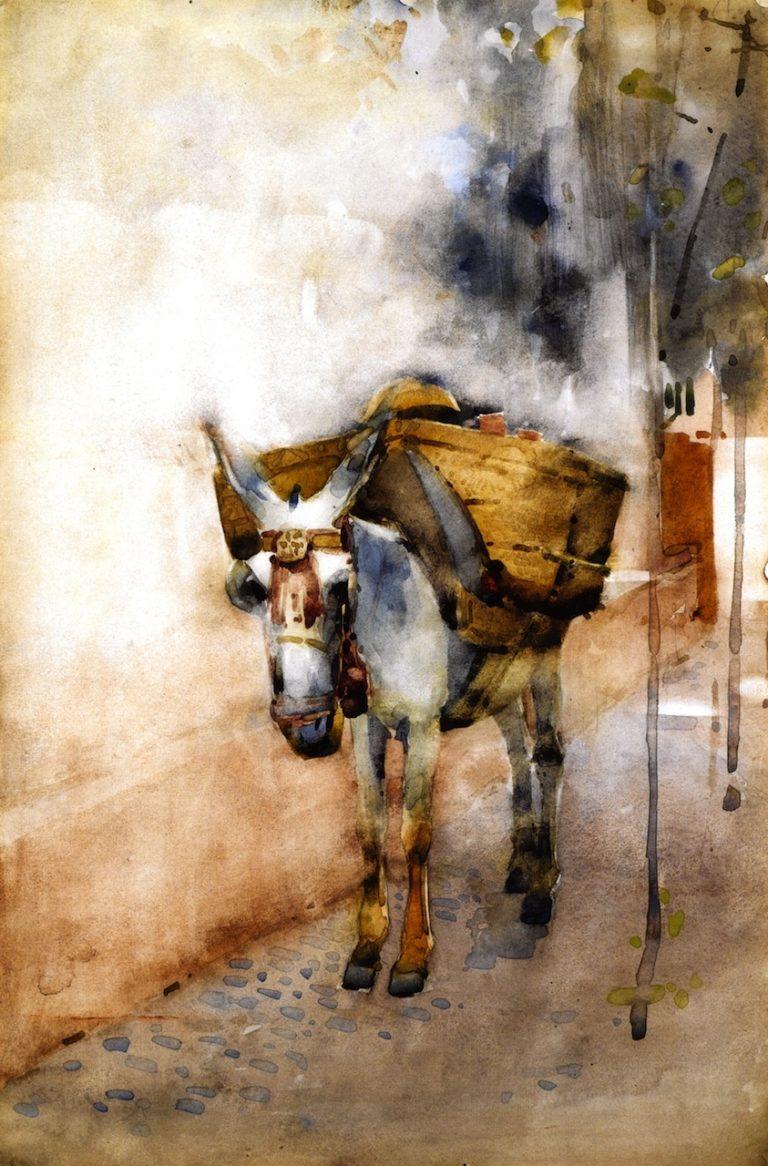 The Arab Donkey   Arthur Melville   oil painting