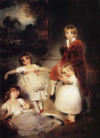 The Children of Ayscoghe Boucherett | Sir Thomas Lawrence | oil painting
