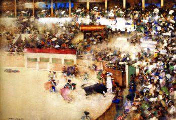 The Little Bullfight 'Bravo Toro' | Arthur Melville | oil painting