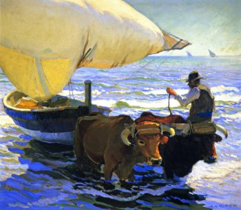 Bringing in the Boats Valencia | Arthur Rider | oil painting