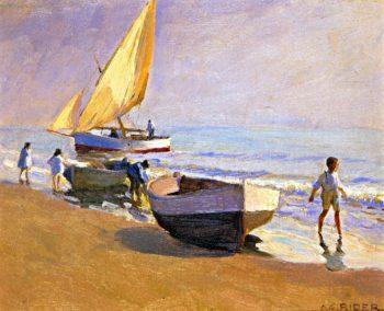 On the Beach Valencia | Arthur Rider | oil painting