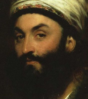 Mirza Abu'l Hassan Khan Detail | Sir Thomas Lawrence | oil painting