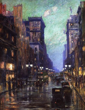 5th Avenue at Twilight | Carlton Fowler | oil painting