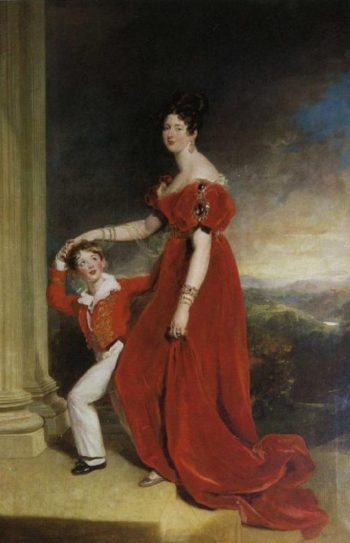 Frances Marchioness of Londonderry with Her Son Lord Seaham | Sir Thomas Lawrence | oil painting