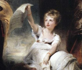 Caroline Princess of Wales and Princess Charlotte Detail 1 | Sir Thomas Lawrence | oil painting