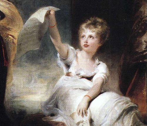 Caroline Princess of Wales and Princess Charlotte Detail 1 | Sir Thomas Lawrence | oil painting