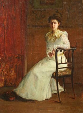 Dama 1 | Cecilio Pla y Gallardo | oil painting