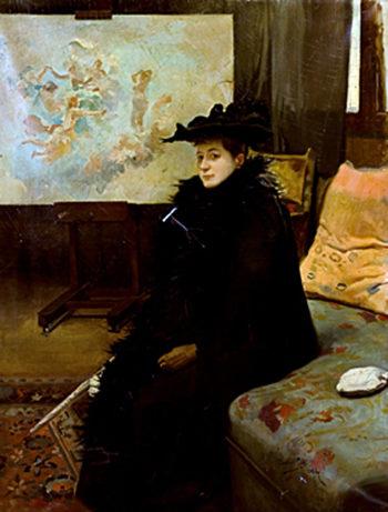 Dama | Cecilio Pla y Gallardo | oil painting