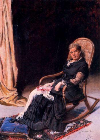 Descansando en la tumbona | Cecilio Pla y Gallardo | oil painting