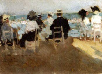 Escena en la playa 1 | Cecilio Pla y Gallardo | oil painting