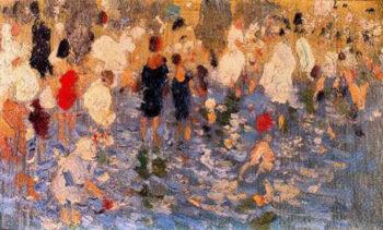 Escena en la playa 2 | Cecilio Pla y Gallardo | oil painting