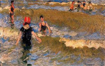 Escena en la Playa 3 | Cecilio Pla y Gallardo | oil painting