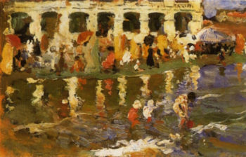 Escena en la Playa 4 | Cecilio Pla y Gallardo | oil painting