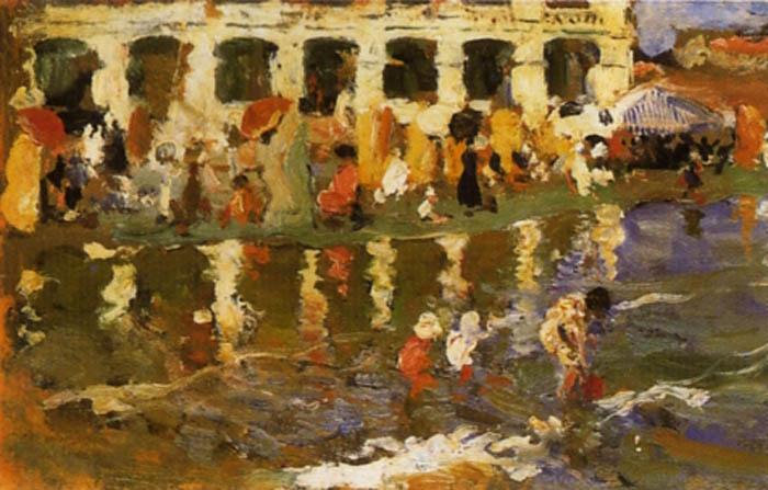Escena en la Playa 4   Cecilio Pla y Gallardo   oil painting