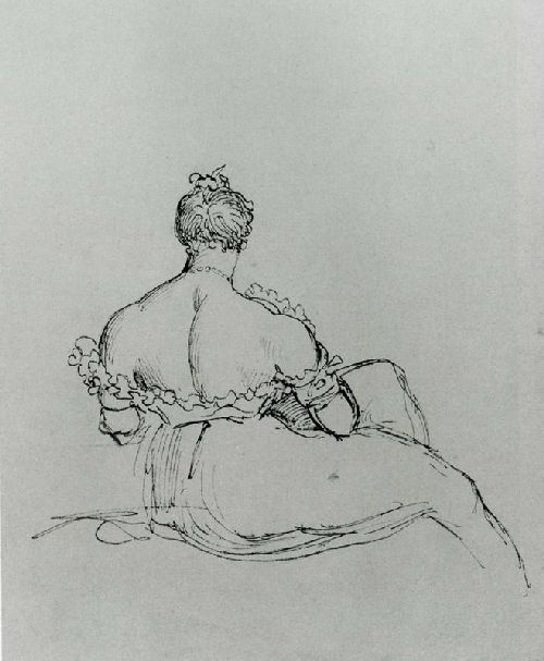 A Woman's Back   Sir Thomas Lawrence   oil painting