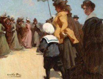 Escena estival | Cecilio Pla y Gallardo | oil painting