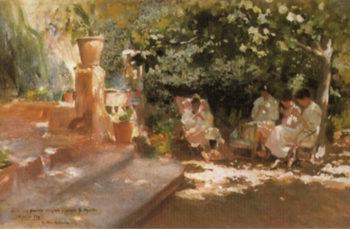 Jardin con Metas | Cecilio Pla y Gallardo | oil painting