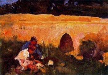Jugando 1 | Cecilio Pla y Gallardo | oil painting