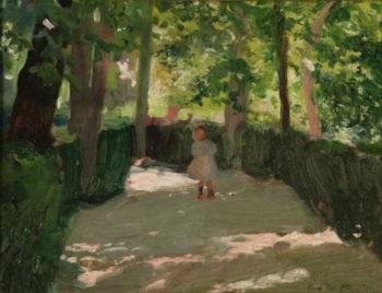 Jugando en el parque | Cecilio Pla y Gallardo | oil painting