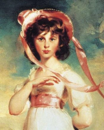 Sarah Barrett Moulton Pinkie 1783 95 Detail | Sir Thomas Lawrence | oil painting