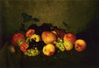 Fruit Apples Grapes Peaches and Pears | Charles Ethan Porter | oil painting