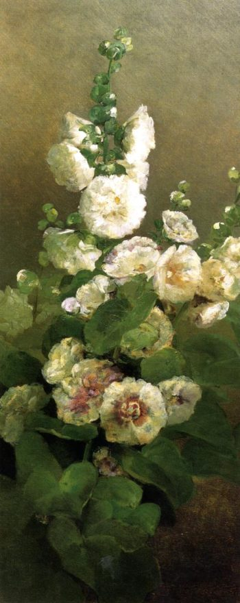 Hollyhocks | Charles Ethan Porter | oil painting